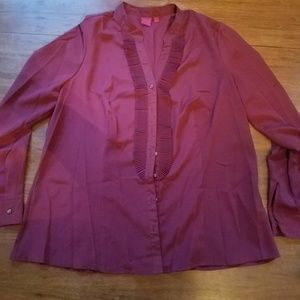 212 Collection burgundy blouse